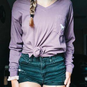 Purple PINK Long-sleeve Shirt✨